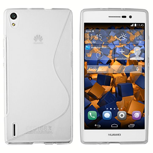 mumbi Hartschale kompatibel mit Huawei Ascend P7 Handy Hard Case Handyhülle, schwarz