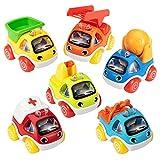 ASTOTSELL Cars Toy para niños de 1, 2 y 3 años, 6 Piezas de Coches de Juguete extraíbles para niños pequeños, cumpleaños de bebé