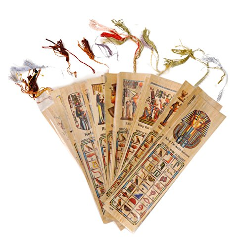 Egyptian Papyrus Paper Set of 10 Bookmarks Book Marks History Educational Set. Photo #3