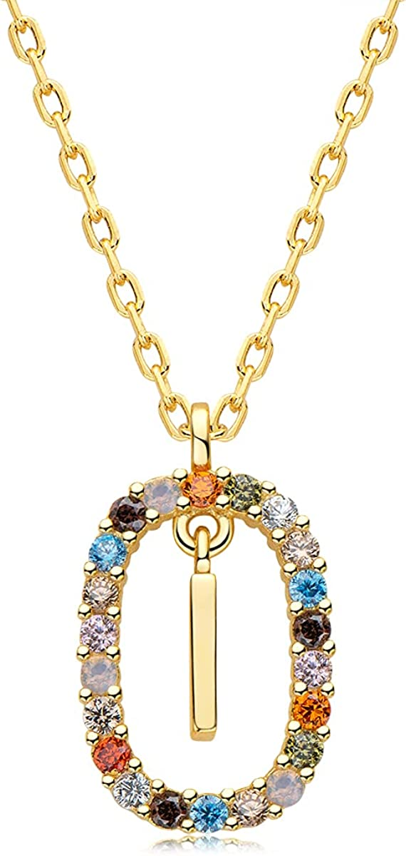 EONFUN Ranking TOP1 Initial Necklaces for Womens Gold Sterli Girls Fort Worth Mall 14K Plated