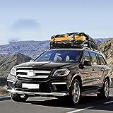 NCBH Dachbox Auto Faltbare mit 4 Türhaken Dachtasche Wasserdicht Dachkoffer Gepäckbox für Reisen...