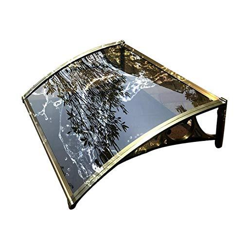 WXQ Jardín al Aire Libre Dosel de Techo Tejadillo Toldo Cubierta, 3 mm Resistente a los choques Hoja de policarbonato Profundidad 60cm / 80cm / 100cm Cubierta Resistente a la Nieve y Lluvia muda