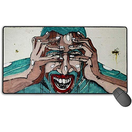 Grote muismat, Gra-ffi-ti Art Design Extended Gaming Mouse Pad Mat Desk Pad Anti-lip Rubber Mousepad 40x75 cm