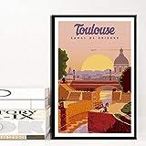 Amokr Berliner Wandkunst Venedig Leinwand Malerei Toulouse