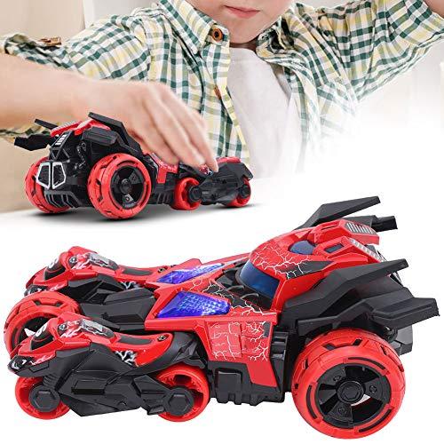 Yivibe Modelo de Moto, Modelo de Coche de Juguete, niños(Red, Three-in-One Tank)