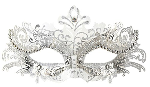 Mascaras Venecianas,Coofit Mascaras Carnaval Metal Laser-corte de Diamantes de Imitación Noche Baile Veneciano Carnaval Fiesta Máscara de la Mascarada