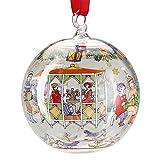 Hutschenreuther 02253-723048-49707 limitierte Weihnachtsdekoration Glaskugel 2015, Ø 6cm