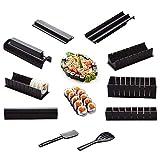 10 Fotos/Set Diy Fabricante De Sushi Molde De Onigiri De Plástico Kits De Molde De Arroz Cocina Bento Accesorios Herramientas