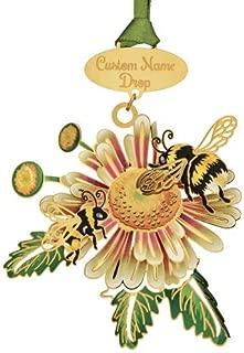 Beacon Design Nature Namedrop Bumble Bee Ornaments, 2.6 X 2.6 Inch