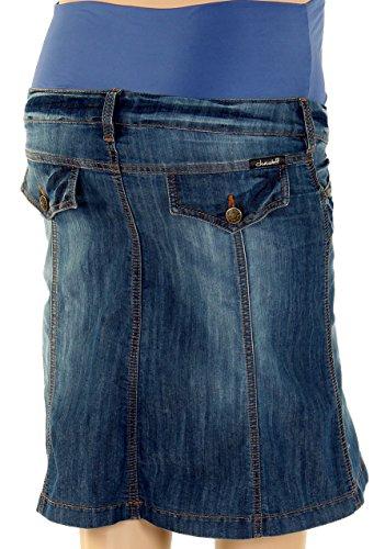 Christoff Diseñador Falda de Jeans Mailand fácilmente emitidos Mujer Falda Vaquera Moda premamá 646/93 - Lavado Oscuro, 40