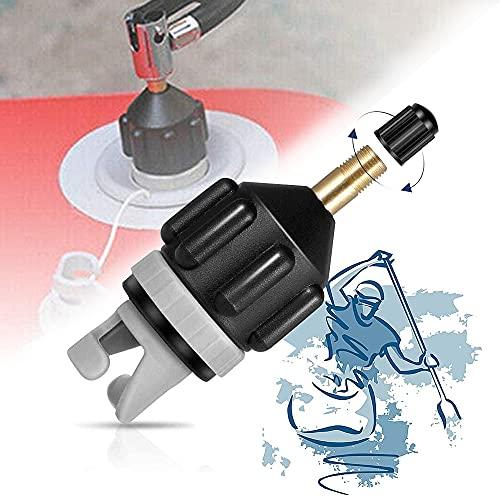 Adaptador de Válvula para Canoa, XCOZU Adaptador de Válvula de Aire Inflable Válvula Adaptador Accesorios, Bomba de Aire Convertidor para Sup Válvulas Kayak Inflable Barco