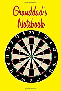 Granddad's Notebook: Darts theme. 120 lined page journal to write in. 6 x 9 inches in size.