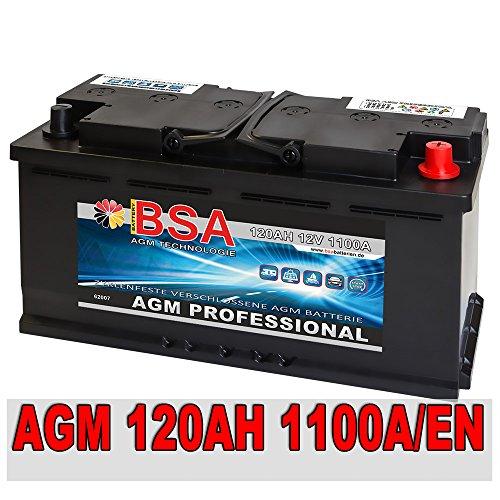 AGM Autobatterie 12V 120AH - 1100A/EN Start Stop ersetzt 105AH 110AH