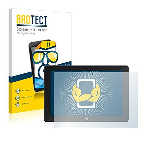 BROTECT Schutzfolie kompatibel mit TrekStor Surftab Twin 10.1 2015 (2 Stück) klare Bildschirmschutz-Folie