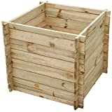 Lacewing Small 373 Liters Garden Outdoor Wooden Compost Bin Composter with Traditional Slated Design Allows Airflow into the Compost Recycling Root Grass Turn to Natural Compost