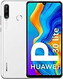 Huawei P30 Lite 64 GB, telefono cellulare, Android 9.0 (Pie), Dual SIM, colore: bianco/bianco perla