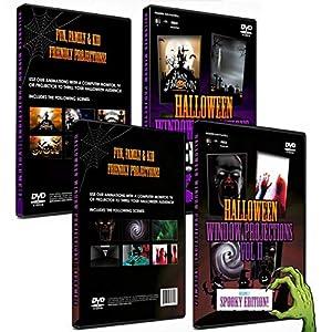 2 DVD Box Set Halloween Digital Window Decoration - Vol 1 & 2
