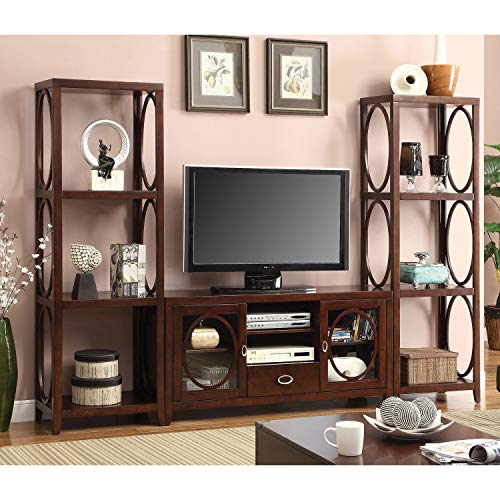 Furniture of America Jash Casual Cherry 3-Piece TV Entertainment Set