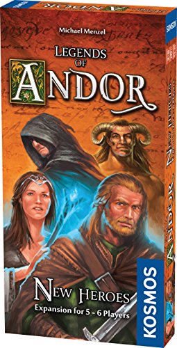 Thames & Kosmos Legends of Andor New Heroes 5 and 6 Player Expansion Cooperative, Family, Strategy Board Game by Kosmos   Expand The Award Winning Game Legends of Andor, Multi, 11.6 (692261)