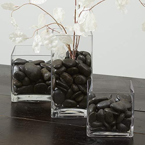 FloraCraft Vase Filler Rocks 5 Pounds Black