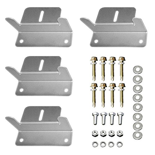 HQST Solar Panel Mounting Z Brackets with Nuts and Bolts - 4 Sets of RV, Boat, Roof, Wall and Other Off Gird Installation Compatible with Most Brand Renogy, Richsolar, Newpowa