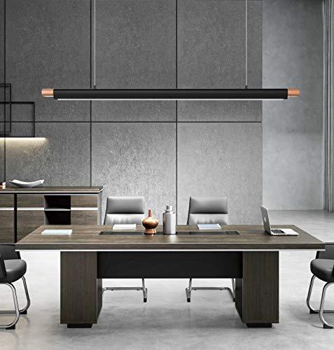 LED Pendelleuchte.Höhenverstellbar 36W LED Hängelampe Esstischleuchte,Moderne Hängeleuchte,Pendelleuchte Holz, für Büroleuchte Schlafzimmerleuchte Wohnzimmerlampe (Kaltes Weiß-6000K)