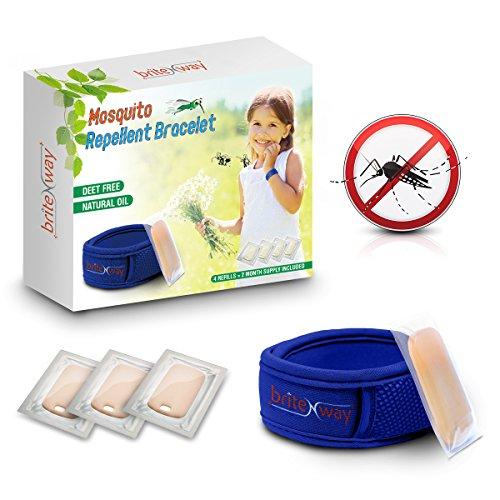 Pulsera repelente de mosquitos AZUL -...