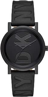 DKNY Soho Quartz Black Dial Ladies Leather Watch NY2783