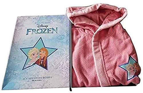 Bademantel Bimba Frozen Mikrofaser Farbe Rosa Größe 3 bis 8 Jahre, Pink 7-8 Jahre