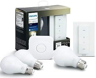 Philips Hue White A19 60W Equivalent LED Smart Bulb...