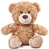 BenBen 12 inch Brown Teddy Bear Stuffed Animal, Cute Bear Plush Toy, Baby Shower Decoration for Boy