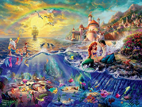 Ceaco Thomas Kinkade Disney Princess Collection The Little Mermaid Jigsaw Puzzle, 300...