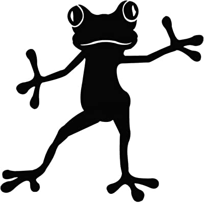Gadgets Wrap Wall Decals 29CM Wall Stickers Black Color - (Dancing Frog)