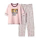 Las mujeres Pijamas Set Nuevo Casual Lindo Impresión Homewear Femenino Pijamas Pantalones Largos Ropa de Dormir Traje Femenino Pijamas Conjunto de 2 Piezas