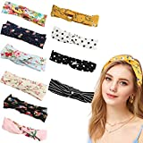 Hair Bands Women's Headband - Fashion hair band Very Soft Material Those Elastic Headbands Made of Cotton and Spandex Fibers (10PCS)