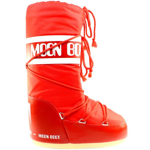 Moon Boot Womens Tecnica Nylon Warm Winter Waterproof Snow Boots - Red - 3-6.5