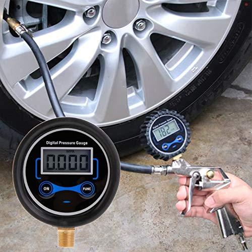 WFAANW 0-200PSI LCD Digital Neumático Medidor de presión Auto Motocicleta Aire Aire Air PSI METER 1/8'NPT PARA COCHES/Camiones/Motocicletas/Bicicletas Host