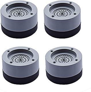 Guanici 4 Stück Universal Schwingungsdämpfer Waschmaschine Fußpolster Stoßdämpfend Gummi Fußpolster Antivibrationsmatte Unterlegscheiben Stabilisator Sockel für Waschmaschinen Kühlschrank und Trockner