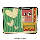YOLIYANA Laptop Bag Vintage Sad Game Boy with Abstract Pattern and Hearts Kids Boys Laptop Sleeve Bag Water-Resistant Protective Case Bag Compatible with Any Notebook 17 inch/17.3 inch