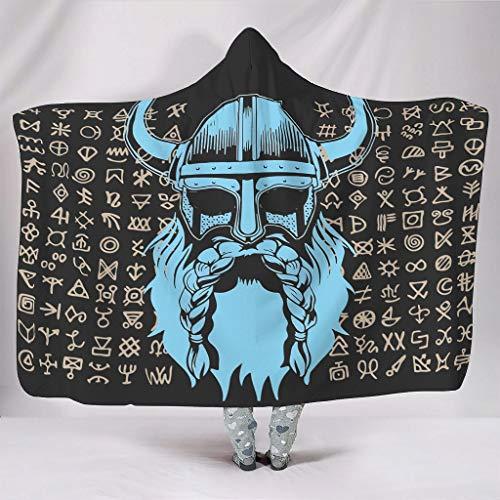 Generic Branded atmungsaktiv Kapuzendecke Mode - Tragbarer Überwurfponcho für Frauen für Schlafen White 130x150cm