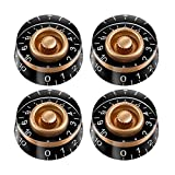 OULII Speed Control Knob with White Word for Electric Guitar 4pcs