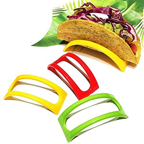 Soporte para Tacos 12 unids Plastic Taco Herramientas de Rack de Tacos Mexicano Panqueques Rack Bandeja Taco Soporte de Cocina Suministros de Cocina Portalaje de plástico Usos Múltiples