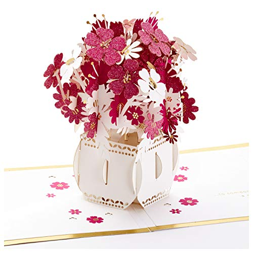 Hallmark Signature Paper Wonder Pop Up Mothers Day Card Flowers in Vase Make the World More Beautiful