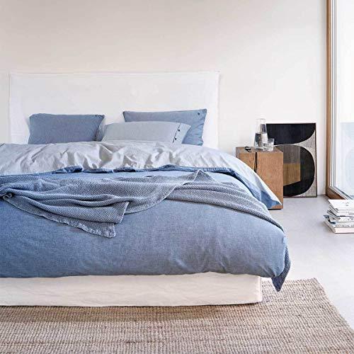 Marc O Polo Bettwäsche Washed Chambray Blue 1 Bettbezug 200 x 200 cm + 2 Kissenbezüge 80 x 80 cm