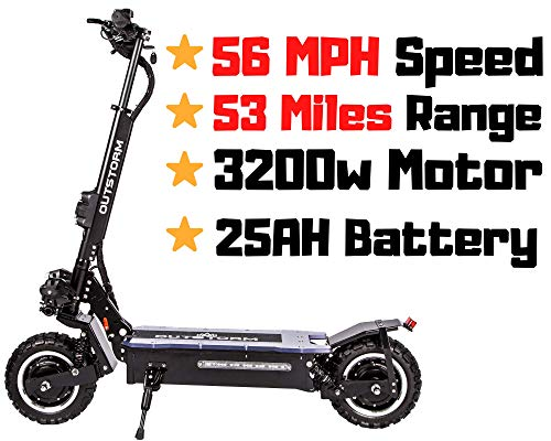 OUTSTORM MAXX Folding Electric Scooter for Adults, 56MPH Top Speed, 53 Mile Max Distance, Hydraulic Shocks, Portable and Foldable with Heavy Duty Off-Road Tires