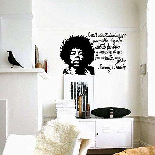 IDEAVINILO Vinilo Decorativo de Jimmy Hendrix Una Fender Stratocaster del 69 con...