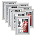 Umi. by Amazon - Cadre Photos 13x18 cm Lot de 8 Blanc Cadres Murals 15x20 Décoration Chambre