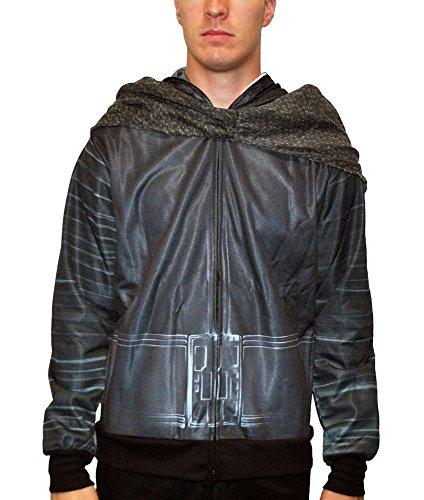 Star Wars Men's Kylo Ren Costume Jacket, Black, Extra Large