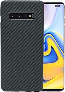 Super Slim Case for Samsung Galaxy S10+ Plus, The Real Aramid Fiber Protective Cover Skin, Soft Touch Sturdy Carbon Fiber Durable Case, Snap-on Back Cover Wireless Charging Friendly