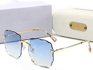 LUKEEXIN Frameless Fashion Casual Sunglasses for Women (Color : Blue)